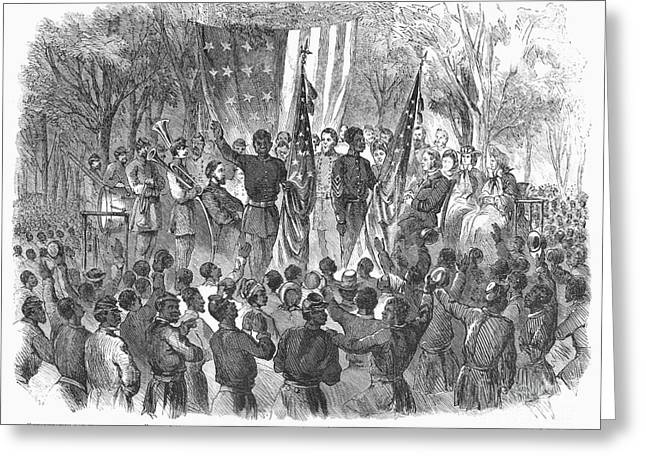 Abolition Greeting Cards - Emancipation, 1863 Greeting Card by Granger