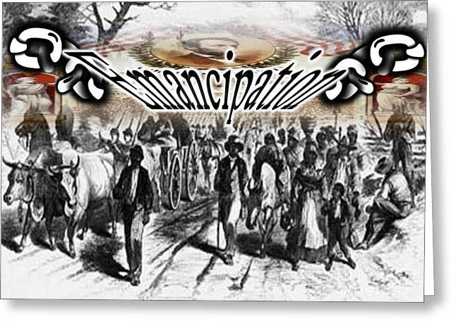 Emancipation Greeting Card by Belinda Threeths