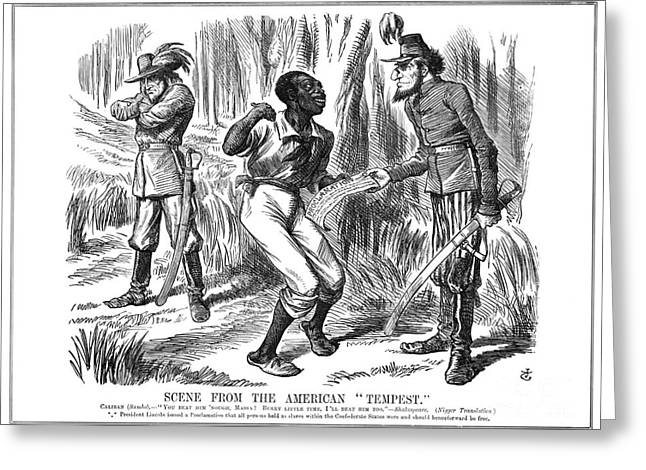 Emancipation Cartoon, 1863 Greeting Card by Granger