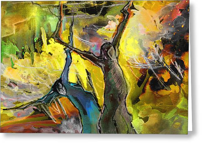 Liberation Drawings Greeting Cards - Emancipation Greeting Card by Miki De Goodaboom