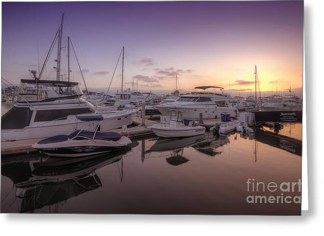Sailboat Art Greeting Cards - Embarcadero Marina 2.0 Greeting Card by Yhun Suarez