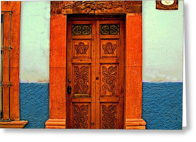 Embellished Puerta Greeting Card by Olden Mexico