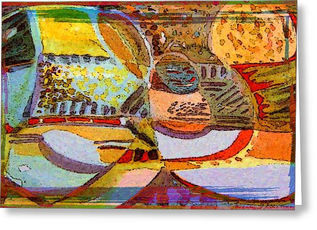 Gouache Abstract Greeting Cards - Embrace Your Art Greeting Card by Mindy Newman