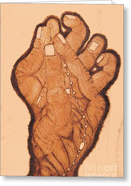 Celebration Pyrography Greeting Cards - Embracing The Moment Greeting Card by TK Mayfield