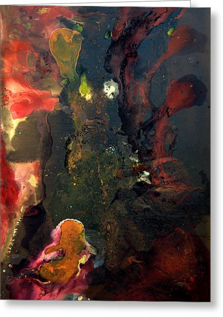 Embryo Mixed Media Greeting Cards - Embryo Greeting Card by Ted Barr