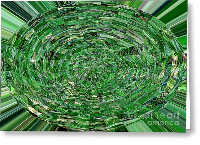 Carol Groenen Mixed Media Greeting Cards - Emerald Abstract Greeting Card by Carol Groenen