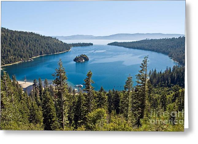 Tahoe National Forest Greeting Cards - Emerald Bay morning Greeting Card by Jim Chamberlain