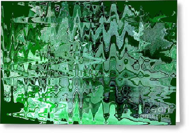 Carol Groenen Abstracts Greeting Cards - Emerald City - Abstract Art Greeting Card by Carol Groenen