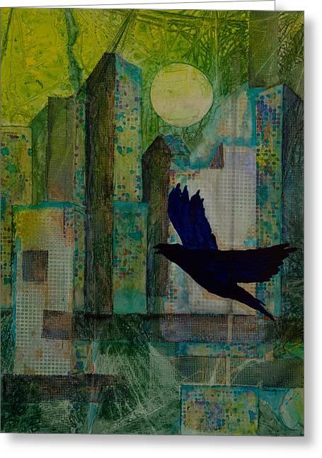 Emerald City Greeting Card by David Raderstorf