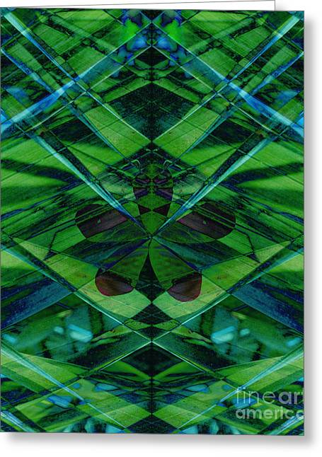 Emerald Green Abstract Greeting Cards - Emerald Cut Greeting Card by Ann Powell