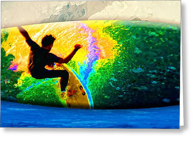 Surf City Greeting Cards - Emerald Dream Photo Board Greeting Card by Ron Regalado