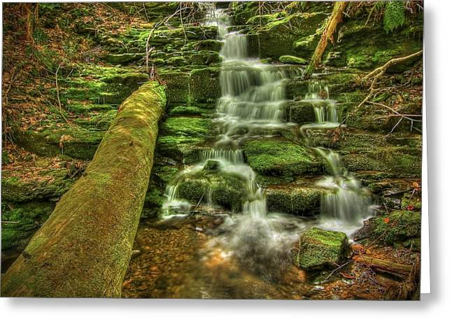 Beautiful Creek Greeting Cards - Emerald Dreams Greeting Card by Evelina Kremsdorf