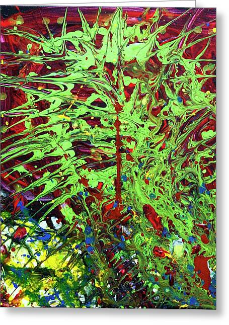 Clever Paintings Greeting Cards - Emerald Web Greeting Card by April Harker