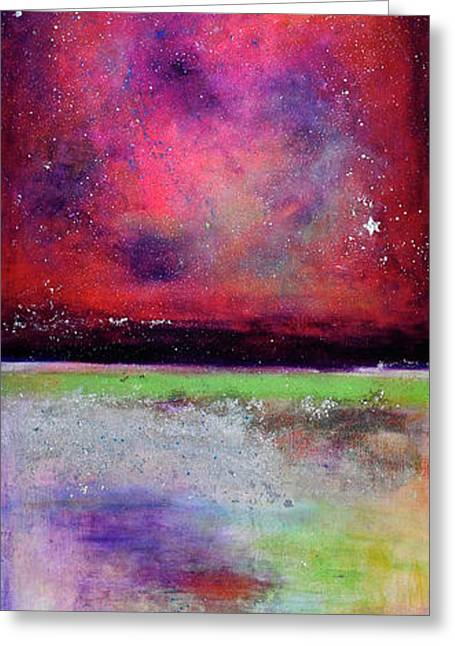 Dream Scape Paintings Greeting Cards - Emergence 2 Greeting Card by Johane Amirault