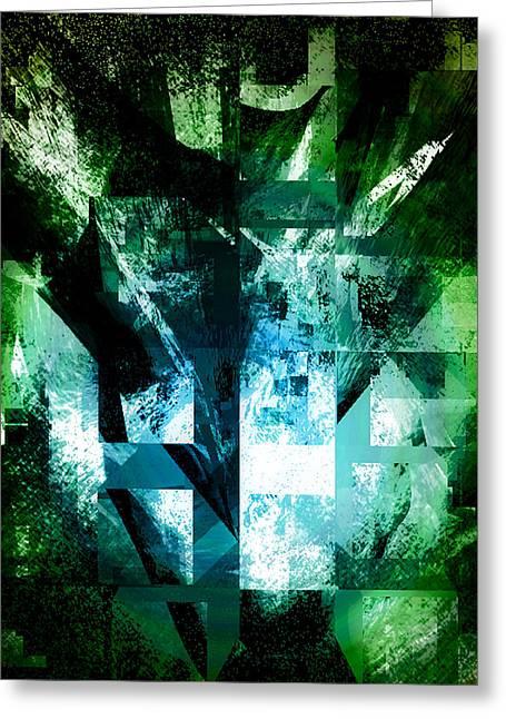 Emergence Digital Art Greeting Cards - Emergence Greeting Card by Gina Barkley