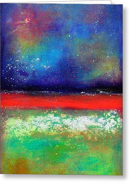 Dream Scape Paintings Greeting Cards - Emergence Greeting Card by Johane Amirault