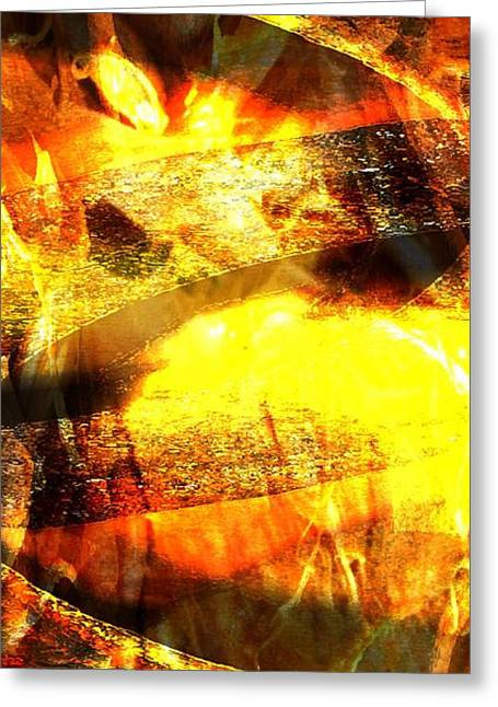 Emergence Digital Greeting Cards - Emergence Of Inner Light      Greeting Card by Pam Walker