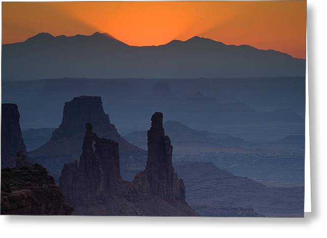 Mesa Greeting Cards - Emerging Dawn Greeting Card by Andrew Soundarajan