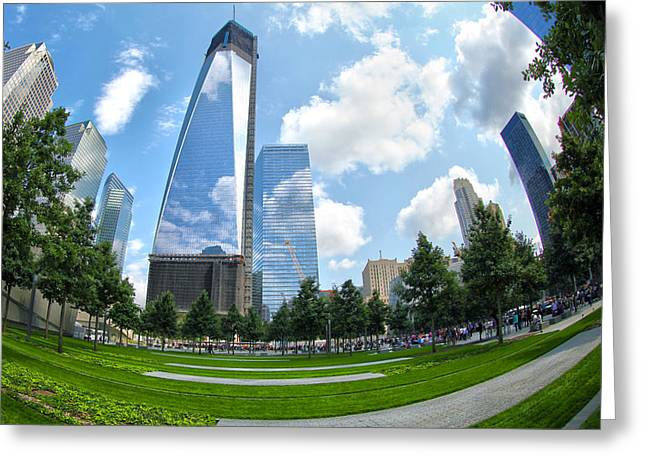Freedom Towers Greeting Cards - Emerging Stronger Greeting Card by Mitch Cat