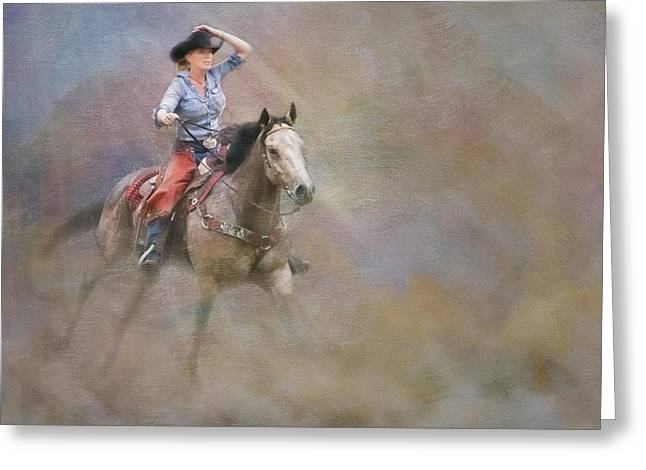 Equine Pastels Greeting Cards - Emerging Greeting Card by Susan Candelario