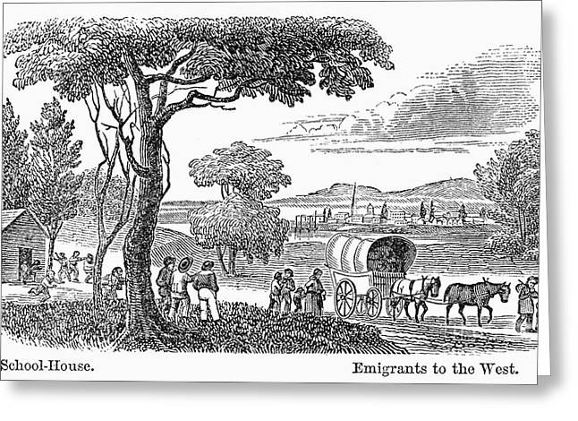 Destiny Greeting Cards - EMIGRANTS, 19th CENTURY Greeting Card by Granger