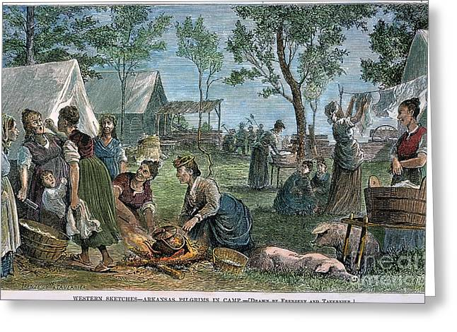 1874 Greeting Cards - Emigrants: Arkansas, 1874 Greeting Card by Granger