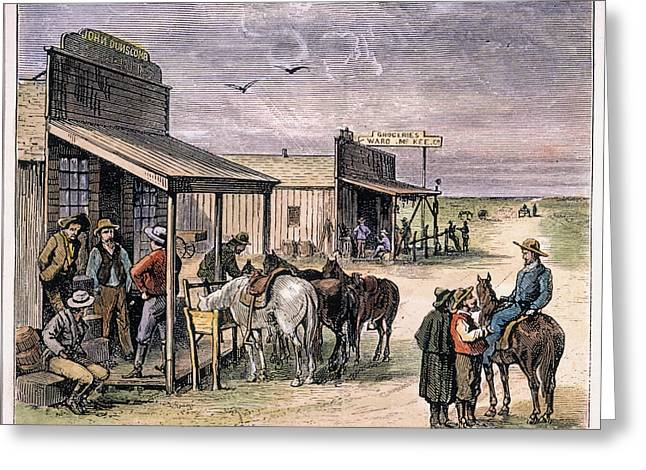 1874 Greeting Cards - Emigrants In Kansas, 1874 Greeting Card by Granger