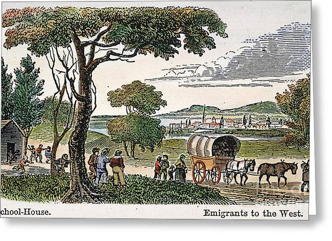 Destiny Greeting Cards - EMIGRANTS TO WEST, c1850 Greeting Card by Granger