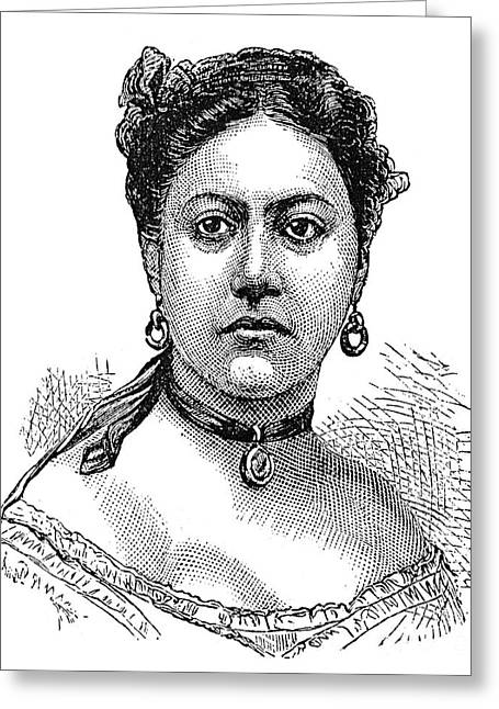 Choker Greeting Cards - Emma (1836-1885) Greeting Card by Granger