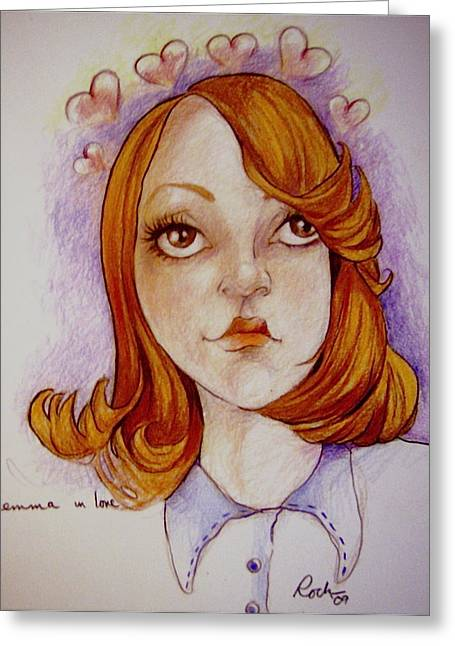 Recently Sold -  - Jackie Rock Greeting Cards - Emma In Love Greeting Card by Jackie Rock