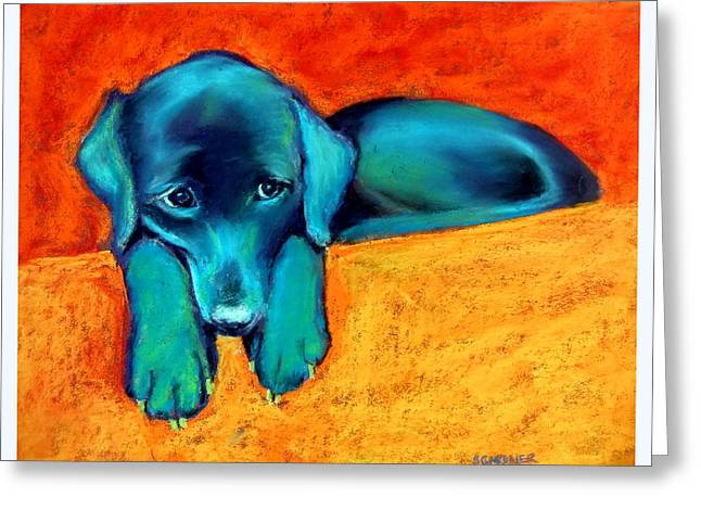 Bright Pastels Greeting Cards - Emma Wants the Toy Greeting Card by Sue Gardner