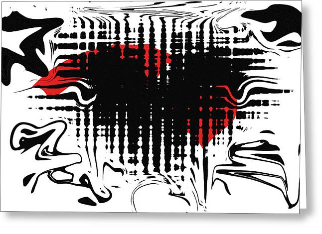 Abstract Digital Greeting Cards - Emotion Greeting Card by David Dehner