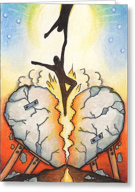 Aceo Drawings Greeting Cards - Emotional Rescue Greeting Card by Amy S Turner