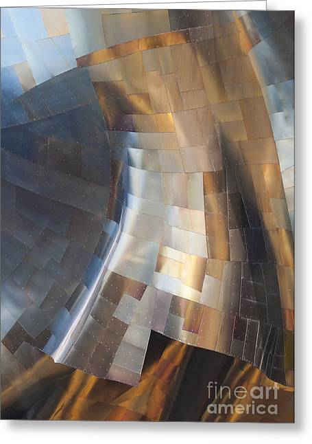Metal Sheet Greeting Cards - EMP Abstract Greeting Card by Chris Dutton