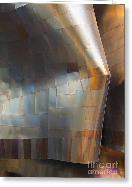 Metal Sheet Greeting Cards - EMP Abstract Fold Greeting Card by Chris Dutton