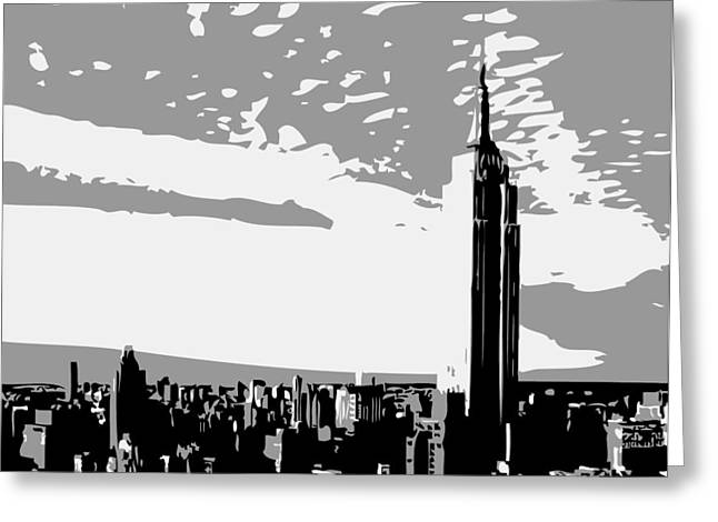 True Melting Pot Greeting Cards - Empire State Building BW3 Greeting Card by Scott Kelley