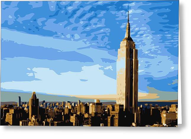 True Melting Pot Greeting Cards - Empire State Building Color 16 Greeting Card by Scott Kelley