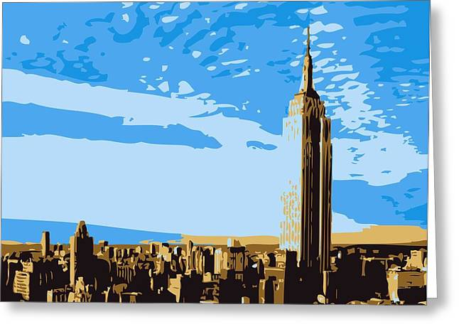 True Melting Pot Greeting Cards - Empire State Building Color 6 Greeting Card by Scott Kelley