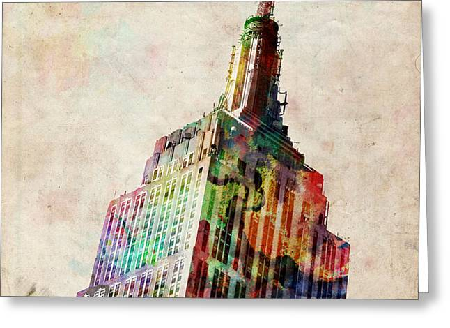 Empire State Building Greeting Card by Michael Tompsett