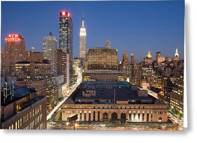 New Yorker Greeting Cards - Empire State Building New York City Skyline Greeting Card by Binh Ly