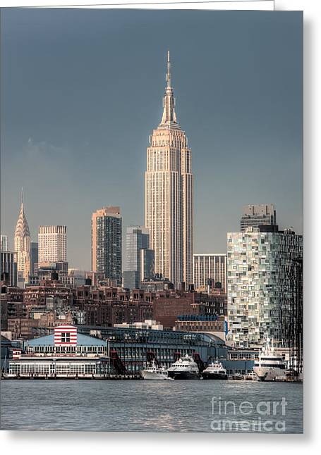 Chelsea Greeting Cards - Empire State Building Post Thunderstorm I Greeting Card by Clarence Holmes