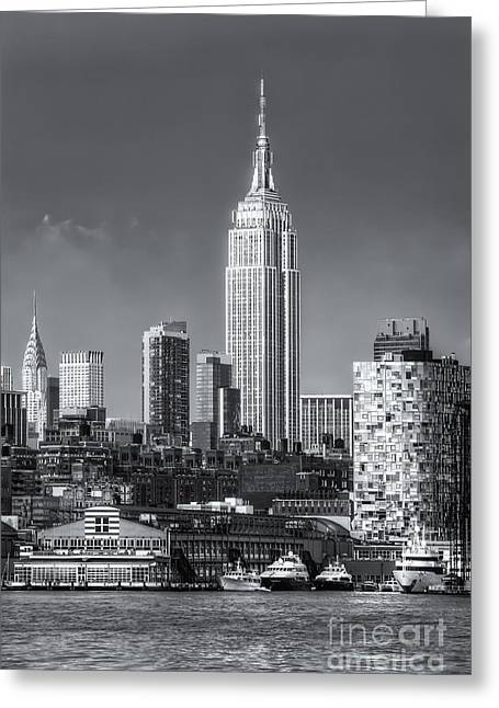 Chelsea Greeting Cards - Empire State Building Post Thunderstorm II Greeting Card by Clarence Holmes