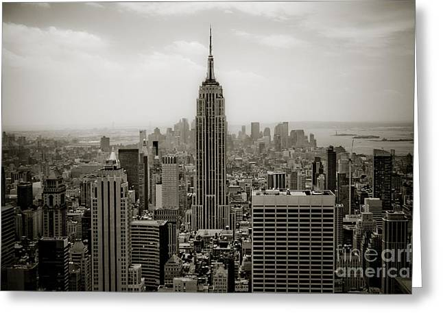 Most Photographs Greeting Cards - Empire State Greeting Card by Ken Marsh