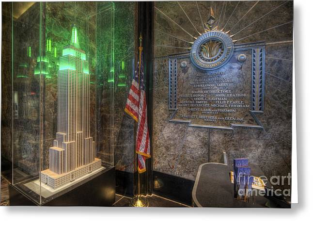 Empire State Model Greeting Card by Yhun Suarez