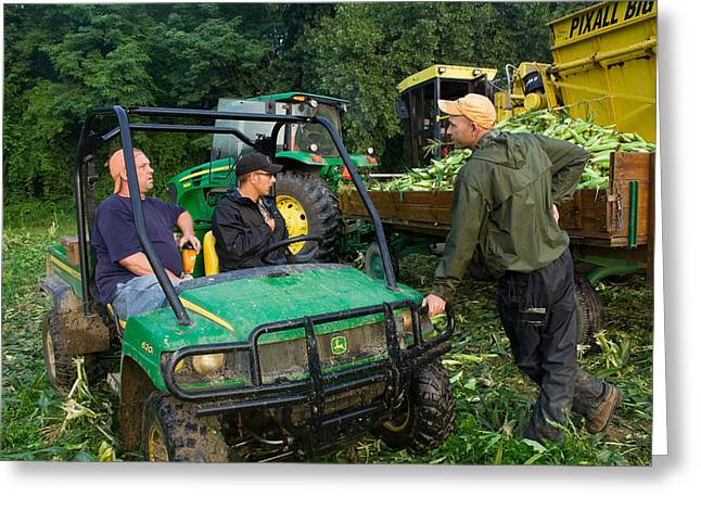 Sweet Corn Picker Greeting Cards - Employee Meeting Greeting Card by Tim  Fitzwater
