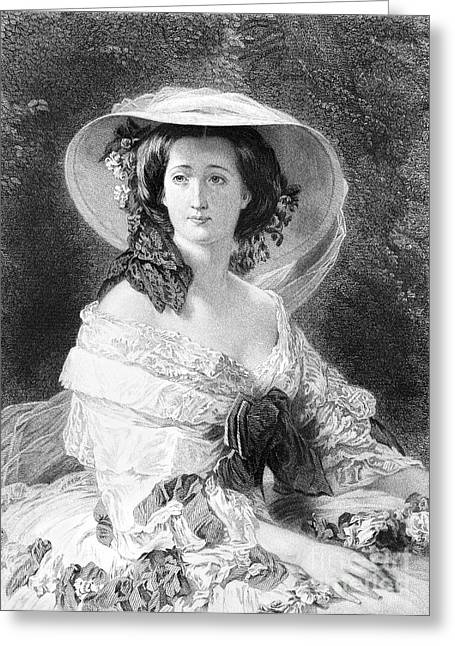Engraving Greeting Cards - Empress Eugenie Of France Greeting Card by Granger