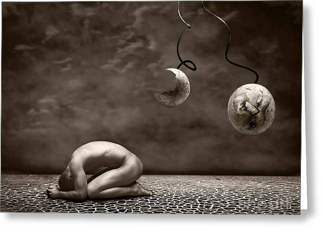 Emotive Greeting Cards - Emptiness Greeting Card by Photodream Art