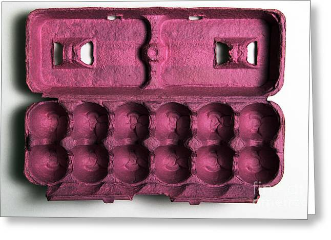 Problem Greeting Cards - Empty 12-egg Carton Greeting Card by Photo Researchers, Inc.