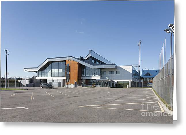 Tallinn Airport Greeting Cards - Empty Airport Parking Lot Greeting Card by Jaak Nilson