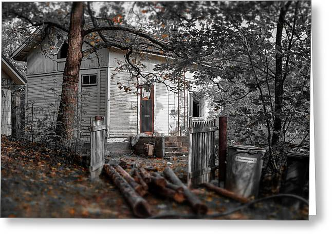Abandoned Houses Greeting Cards - Empty and Abandoned Greeting Card by Ari Salmela